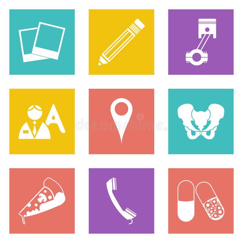 Les icônes pour le web design ont placé 23 illustration stock