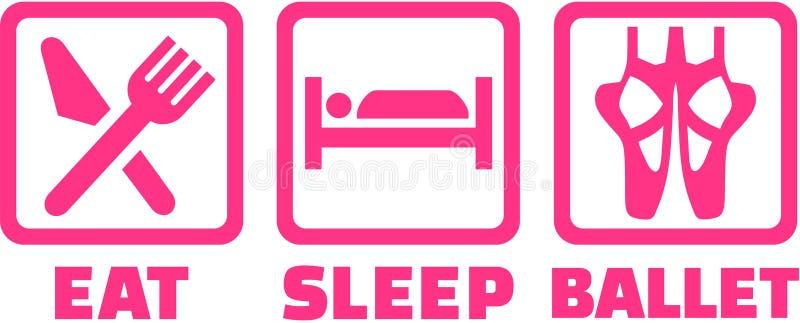 Les icônes pour mangent le ballet de sommeil illustration libre de droits
