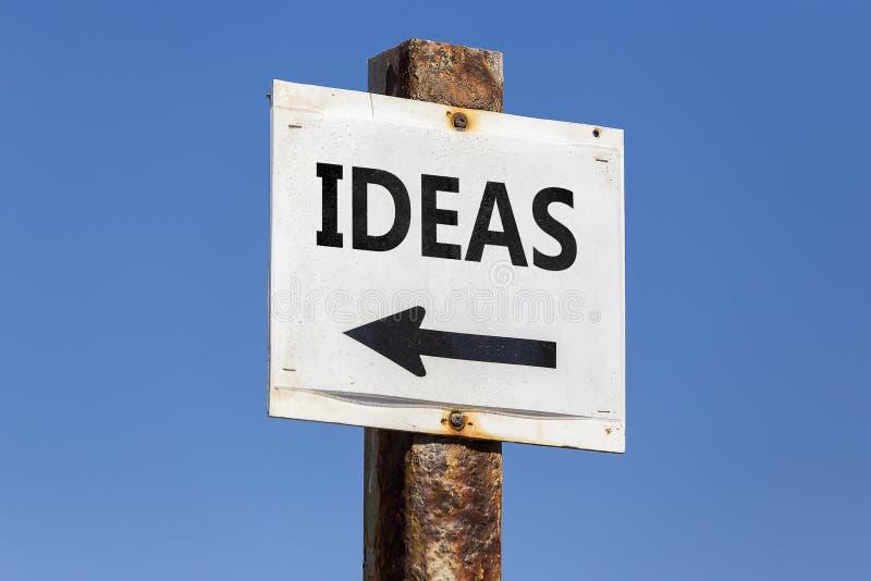Les idées expriment et des poteaux indicatrices de flèche photographie stock libre de droits