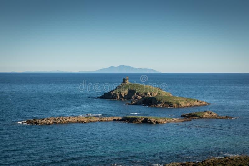 Les Iles Finocchiarola vor der Küste von Cap Corse in Korsika stockfotos