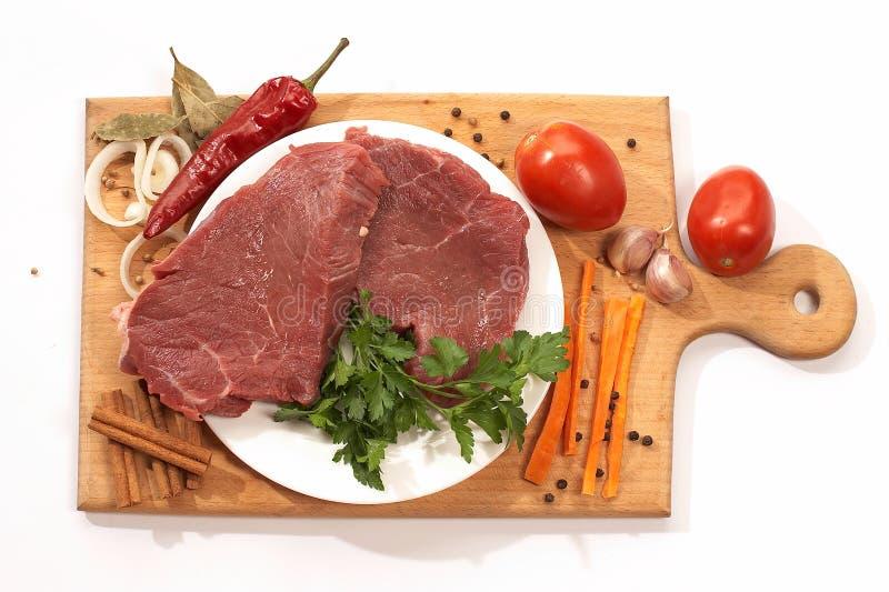 Les ingrédients pour préparent le dîner photographie stock libre de droits