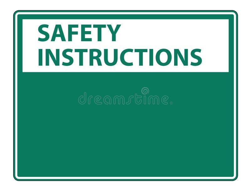les instructions de sécurité de symbole signent le label sur le fond blanc illustration stock