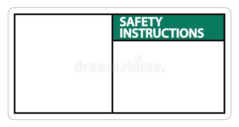 les instructions de sécurité de symbole signent le label sur le fond blanc illustration libre de droits