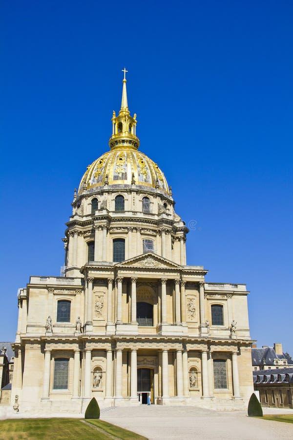 Les Invalides,巴黎,法国 免版税库存图片