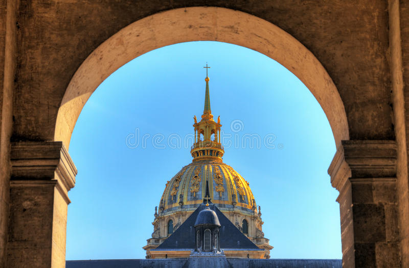 Les Invalides arch stock image