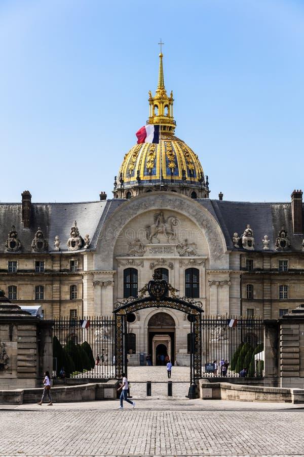 Les Invalides la residencia nacional del Invalids París, F fotos de archivo libres de regalías