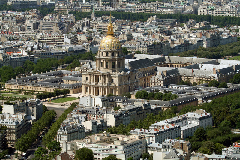 Les invalides and parc royalty free stock photography
