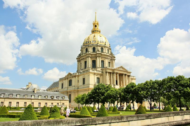 Les Invalides, Paris. Les Invalides in Paris, the capital of France. Also known as L'Hôtel des Invalides, it is a complex of buildings containing museums and stock photos