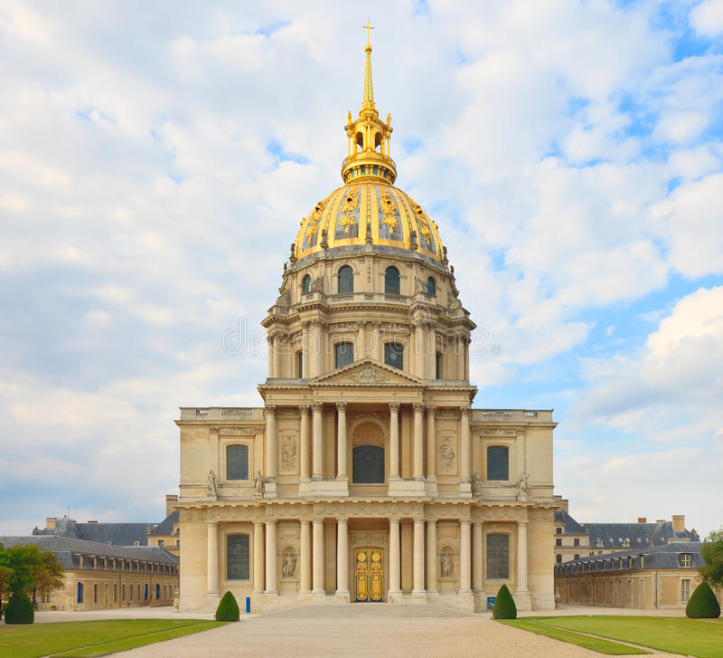 Les Invalides, Paris, France. Túmulo de Napoleon. imagem de stock