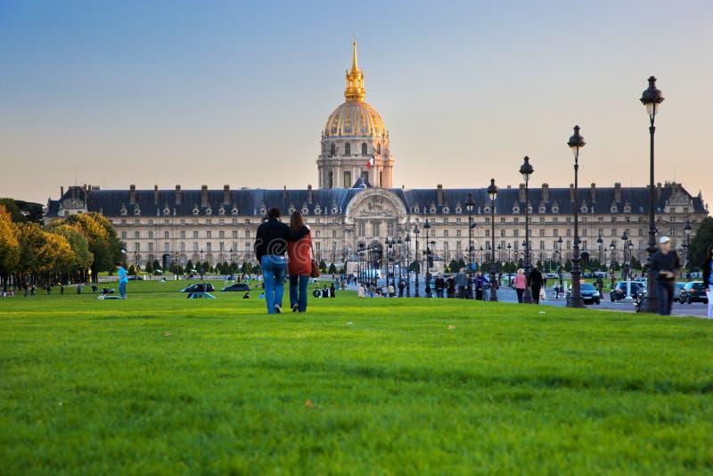 Les Invalides, Paris, Frankrike. royaltyfri foto