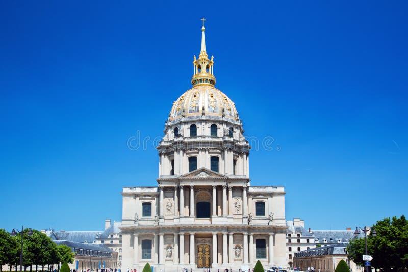 Les Invalides, Paris, Frankrike Royaltyfri Fotografi