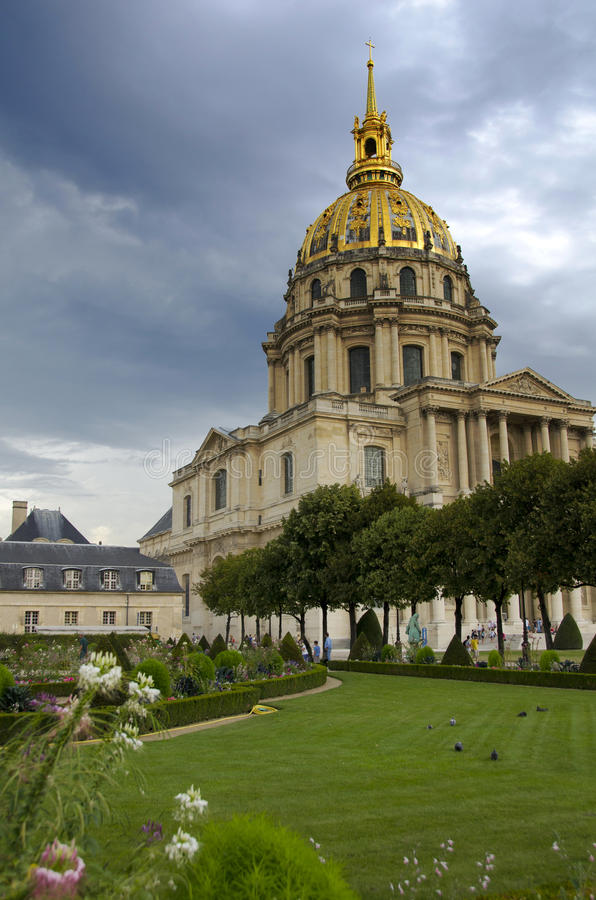 Les Invalides, Paryż obraz stock