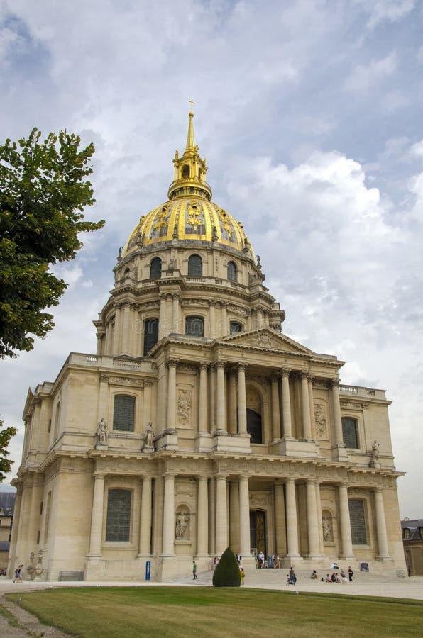 Les Invalides, Paryż obrazy royalty free