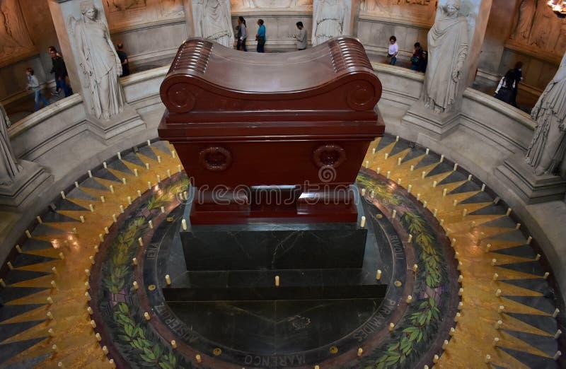 Les Invalides, túmulo de Napoleon Bonaparte Paris, França, o 9 de agosto de 2018 fotos de stock