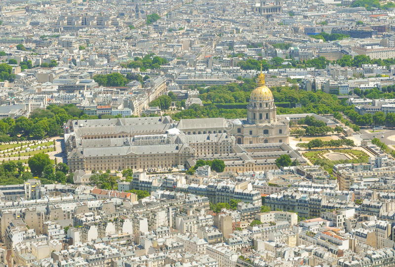 Les Invalides w Paryż, Francja zdjęcia stock