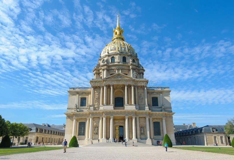 Les Invalids en París, Francia foto de archivo libre de regalías