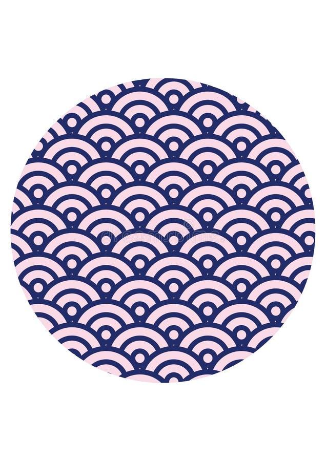 Les Japonais ondulent la texture sans couture de modèle image stock