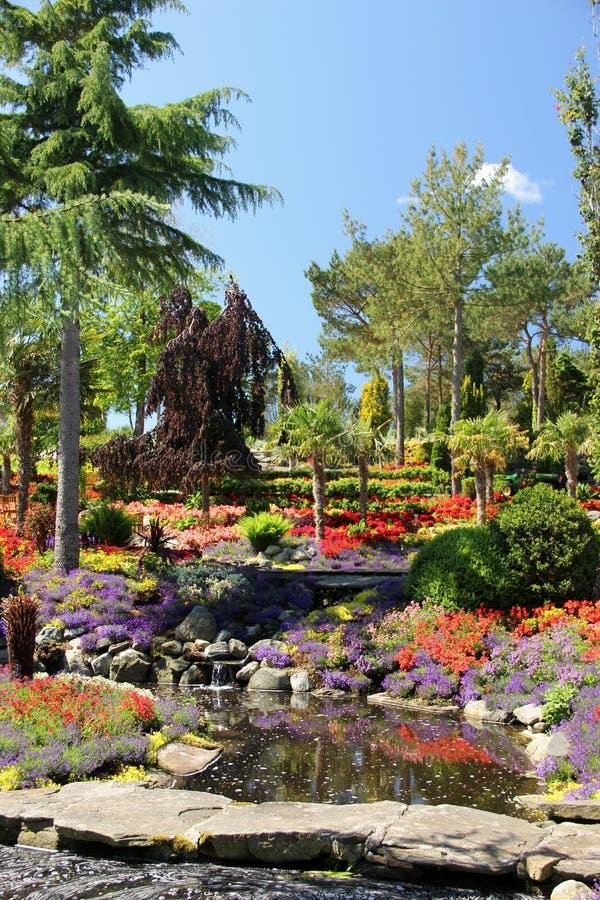 Les jardins à l'og Fjaere de Flor photographie stock libre de droits