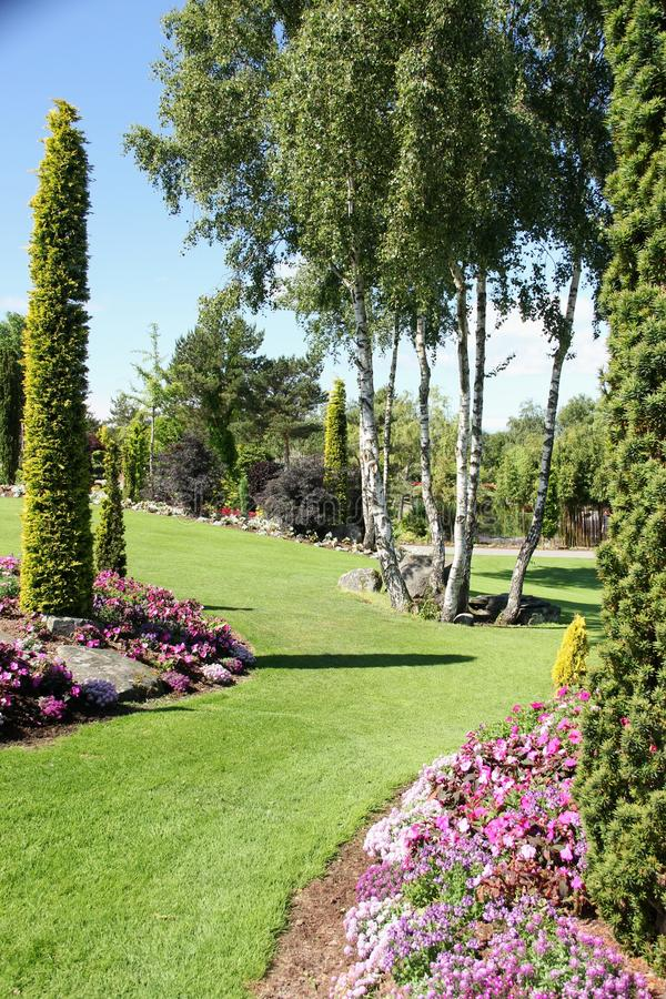 Les jardins à l'og Fjaere de Flor images stock