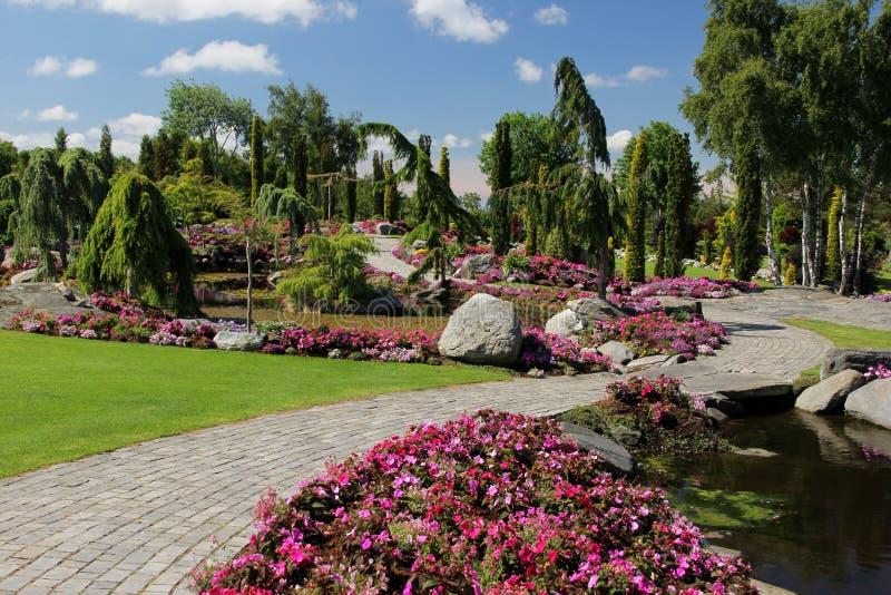 Les jardins à l'og Fjaere de Flor photos stock