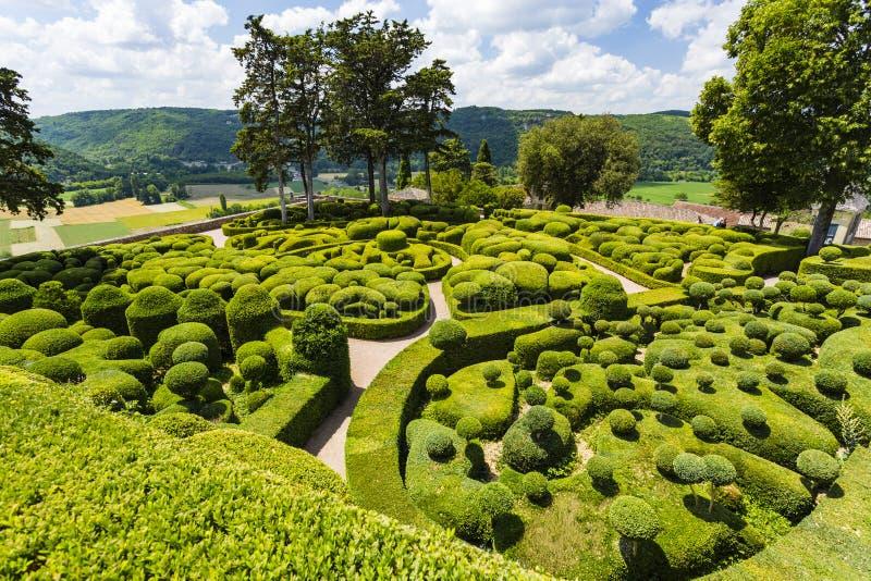 Les Jardins de Marqueyssac. Vézac, Dordogne, France royalty free stock photo