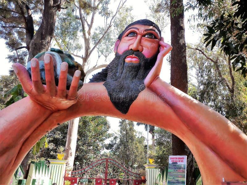 Les jardins de Padmapuram est un endroit d'attraction touristique photo stock