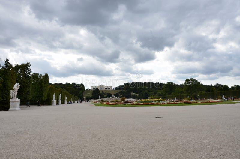 Les jardins du palais impérial du ` s de Vienne photo stock