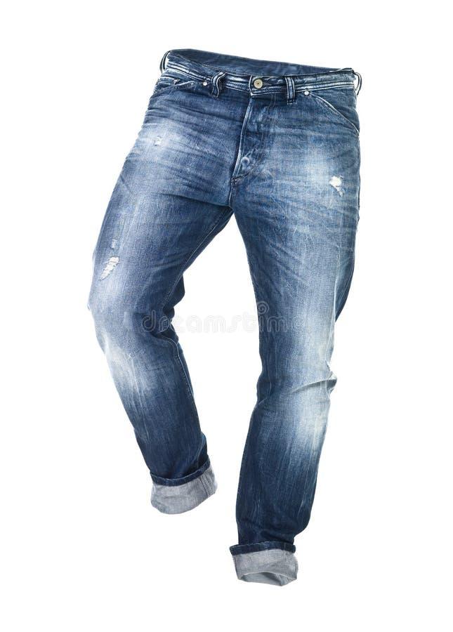 Les jeans usés ont isolé image libre de droits