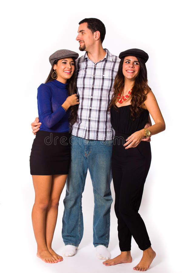Les jeunes attirants image stock