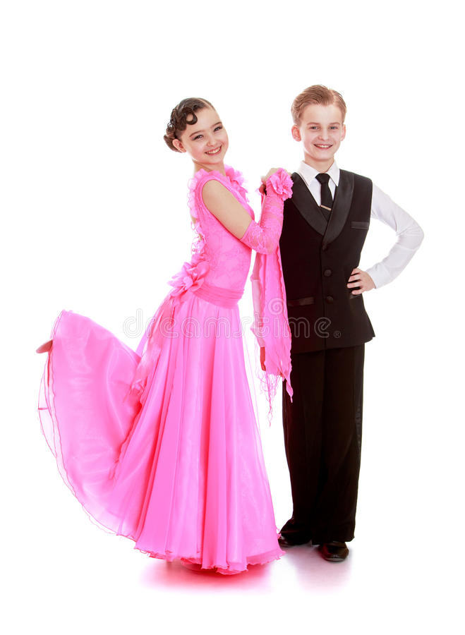Les jeunes danseurs dans le studio photographie stock