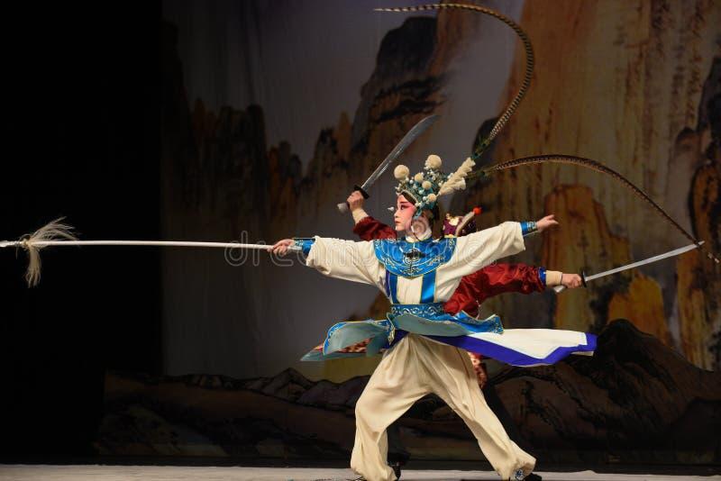 """Les jeunes généraux de femmes de Yang Zongbao- Pékin Opera"""" de maréchal du  de € de Yang Familyâ image libre de droits"""