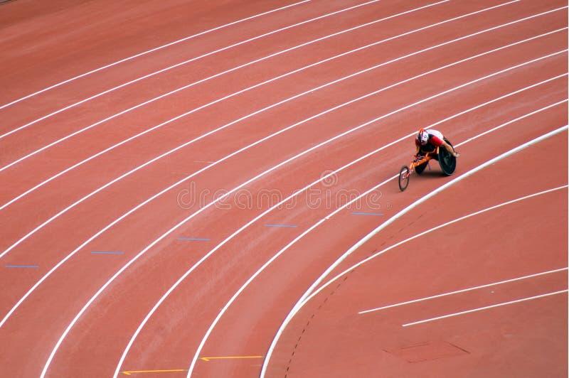 les jeux de zone de Pékin ont meulé la piste paralympic photos stock