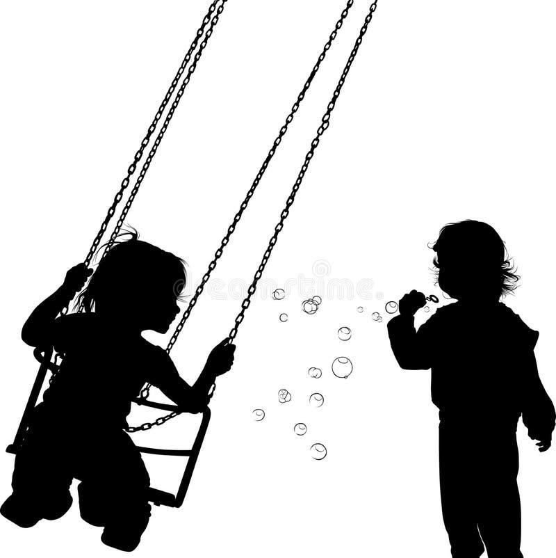 Les jeux des enfants illustration libre de droits