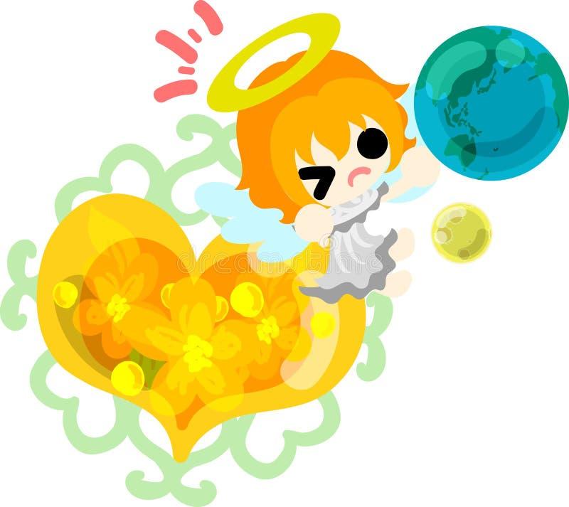 Les jolis anges illustration de vecteur