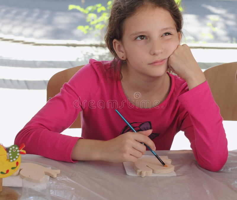 Les jouets créatifs des enfants peints à la main image libre de droits