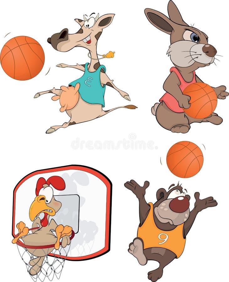 Les joueurs de basket. illustration stock