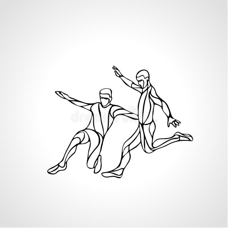 Les joueurs de football ou de football donne un coup de pied la boule, silhouette de sportif illustration stock