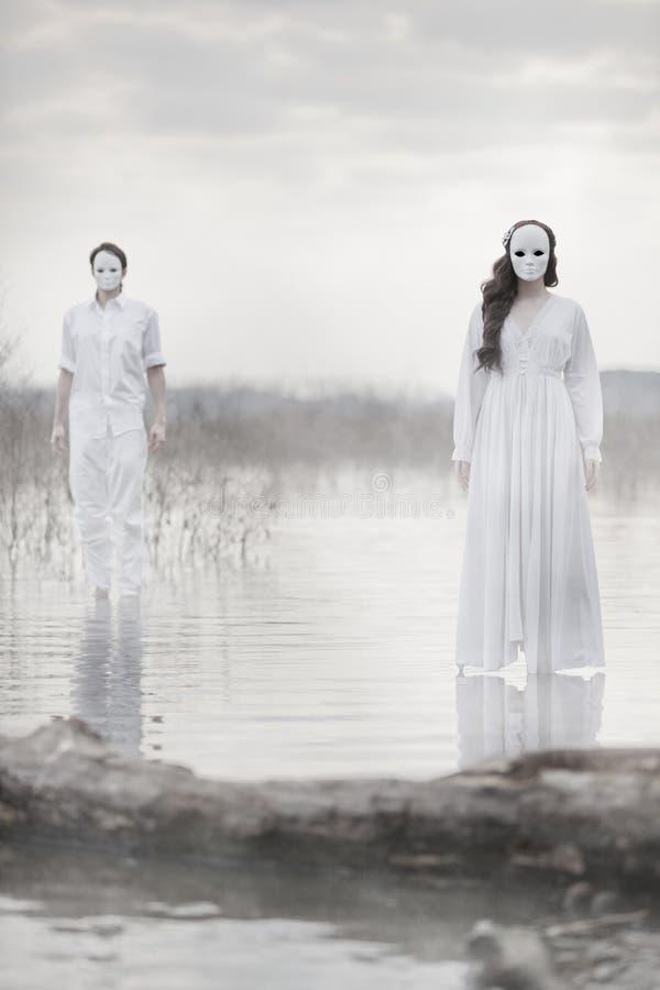 Les joueurs masqués photos libres de droits