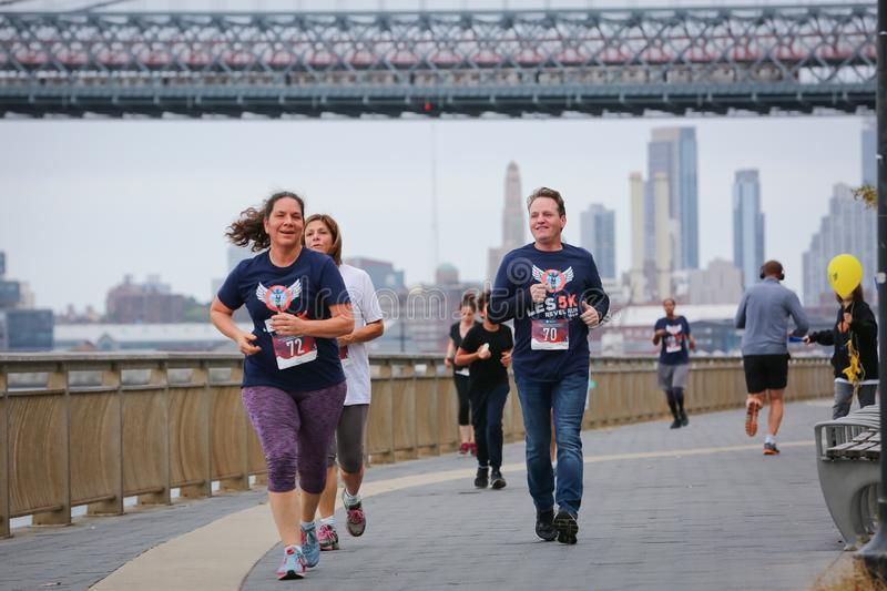 LES5K REVEL RUN 10.06.2019. Run/walk is inspired by and in memory of Pavel Lempert. A day that promotes health, fitness, diversity and unity to benefit youth stock photos