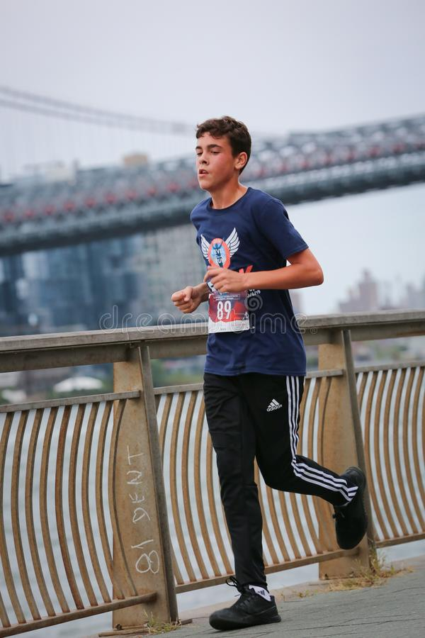 LES5K REVEL RUN 10.06.2019. Run/walk is inspired by and in memory of Pavel Lempert. A day that promotes health, fitness, diversity and unity to benefit youth stock photography