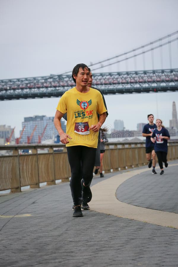 LES5K REVEL RUN 10.06.2019. Run/walk is inspired by and in memory of Pavel Lempert. A day that promotes health, fitness, diversity and unity to benefit youth stock photo