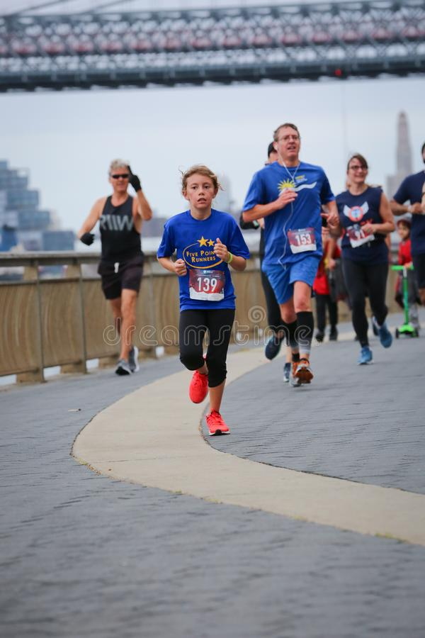 LES5K REVEL RUN 10.06.2019. Run/walk is inspired by and in memory of Pavel Lempert. A day that promotes health, fitness, diversity and unity to benefit youth royalty free stock image