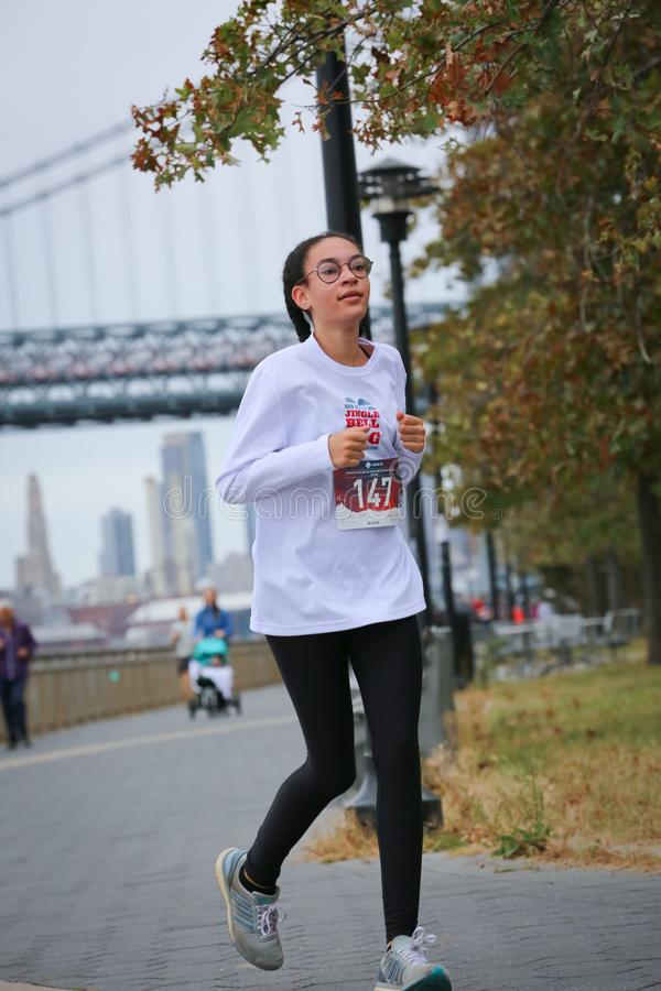 LES5K REVEL RUN 10.06.2019. Run/walk is inspired by and in memory of Pavel Lempert. A day that promotes health, fitness, diversity and unity to benefit youth royalty free stock photography