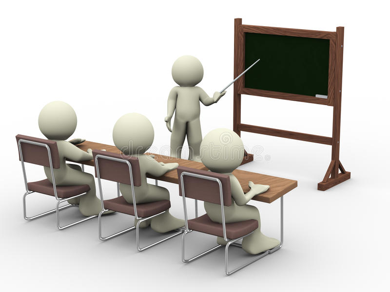 Les in klaslokaal royalty-vrije illustratie