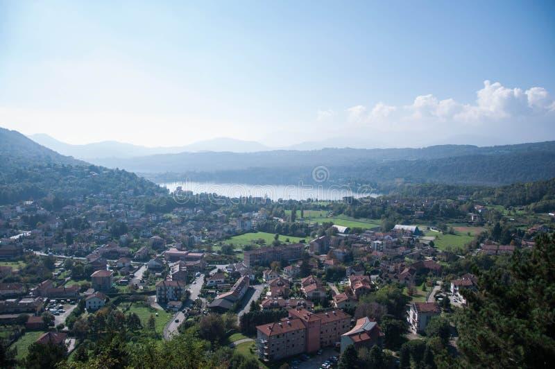 Les lacs d'Avigliana image stock