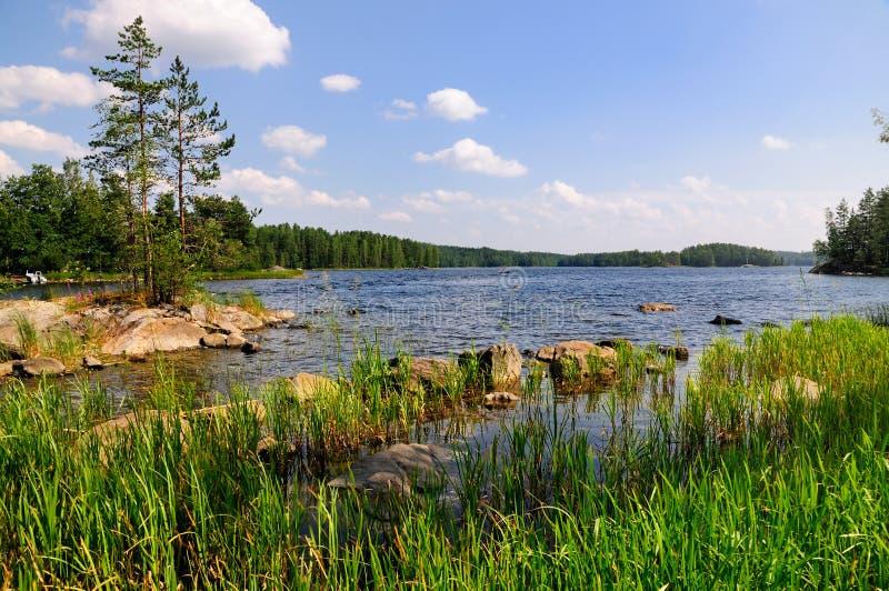 Les lacs finlandais photo stock
