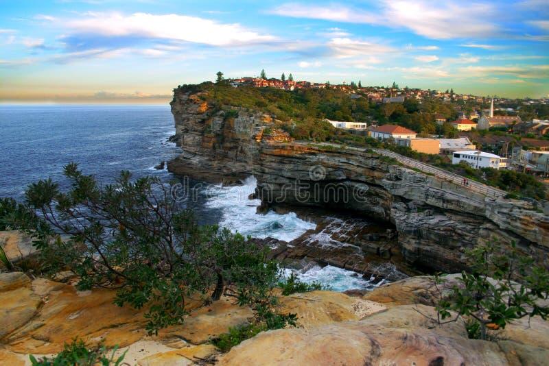 Les lacunes, compartiment de Watson, Sydney photo stock