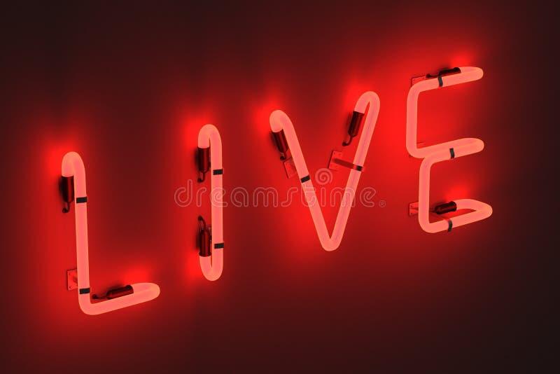 Les lampes au néon - vivez illustration de vecteur