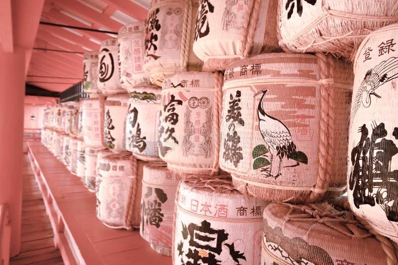 Les lampes tissées chez le Japon photo libre de droits