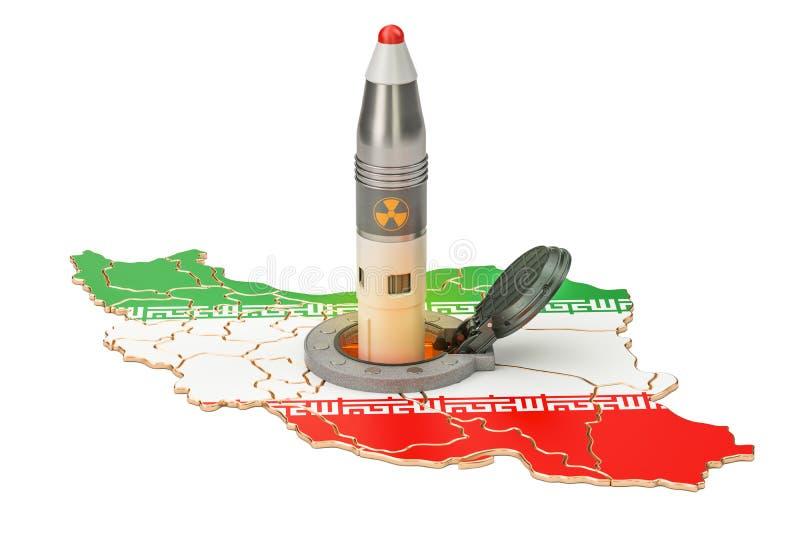 Les lancements iraniens de missile de son silo souterrain lancent le facili illustration stock